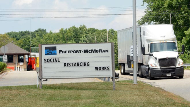 Mining company Freeport-McMoRan has reaffirmed a decision to close its plant in Norwich, laying off 127 employees.