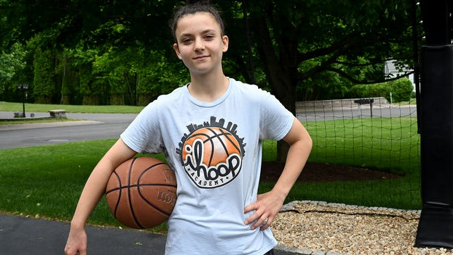 Hopedale basketball player Bri Frongillo, a sophomore, has already scored 1,000 points in her high school career.