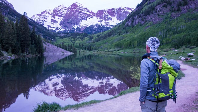 The view from Maroon Bells, Colo.