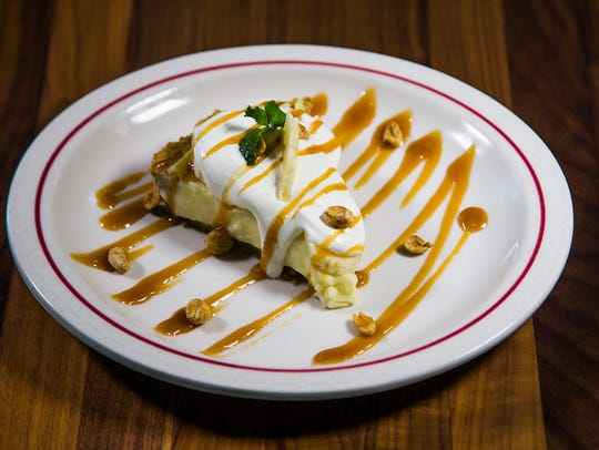 This is banana cream pie at Gallo Blanco, a restaurant