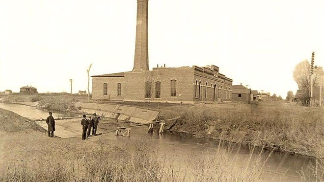 The Hutchinson Water, Light & Telephone Company was chartered and they began construction on a new building at Sherman and Adams in 1890 with this photograph taken by William Glines.