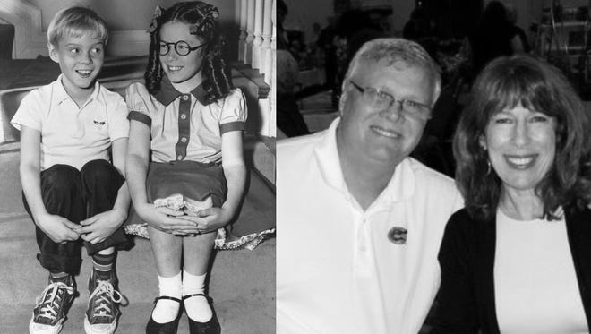 Jay North and Jeannie Russell - then and now