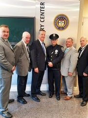 Union County Police Patrolman Matthew Schaible (fourth from