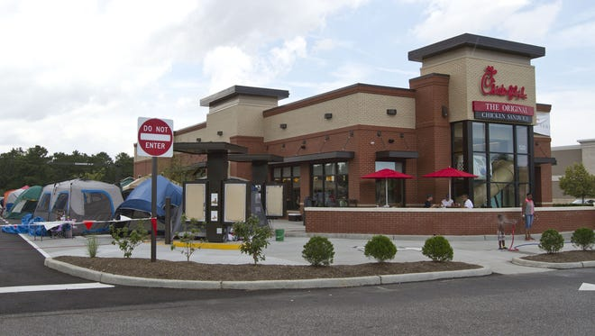 Chick-fil-A is American's favorite fast food chain according to survery. File photo. Doug Hood/Staff Photographer