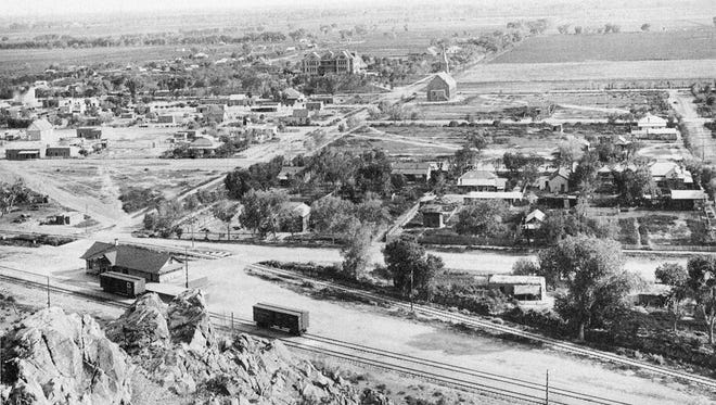 In the heyday of the railroad in Tempe there were a number of train depots. One long-forgotten station (at lower left) was built in 1903 along present-day Fifth Street and College Avenue.