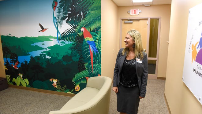 Child Advocacy Center coordinator Katie Boecker talks about the design of the center Thursday, Oct. 27, during an interview in St. Cloud.