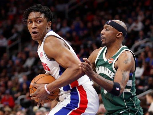 Stanley Johnson, Milwaukee Bucks at Detroit Pistons