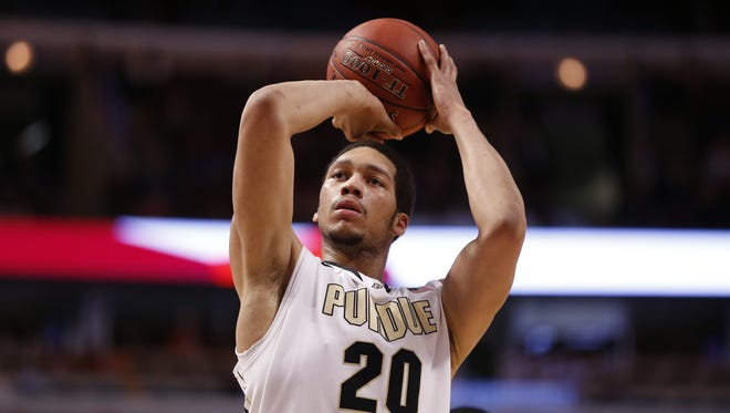Purdue's A.J. Hammons will return for his senior season with the Boilermakers. He made his announcement during halftime of Saturday's Gold & Black spring football game at Ross-Ade Stadium.