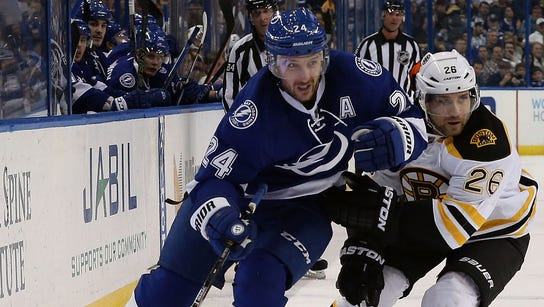 Tampa Bay Lightning winger Ryan Callahan, who begins