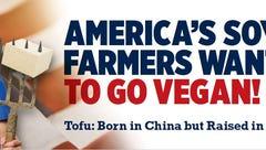 Iowa soybean group calls PETA's vegan billboard 'a new low'