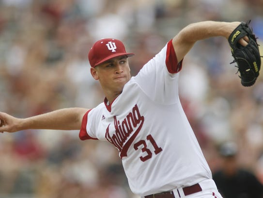 IU's bats got a lot of the attention, but Aaron Slegers