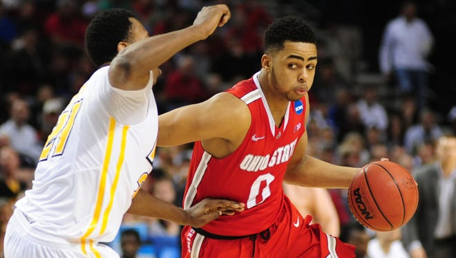 Ohio State guard D'Angelo Russell won this year's Big Ten Freshman of the Year,
