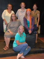 """Mark Dunn's """"Belles: The Reunion,"""" opening today at Las Cruces Community Theatre, features, from left Mary Huhmann, Gail Wheeler, Susan Smith, Karen Buerdsell, Nora Brown, and bottom center, Lennie Brown."""