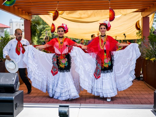 Performers at last year's ¡Fiesta Latina! in Silver