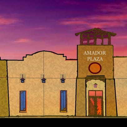 Artist rendering of the front of the office/retail