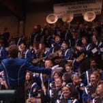 Bothell marching band at Pop Keeney