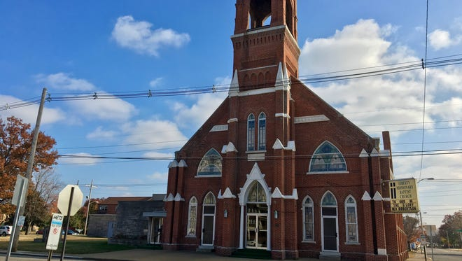 A threatening, racial slur was written on the door of the Liberty Missionary Baptist Church, at 701 Oak Street, after the church hosted its annual Thanksgiving dinner.