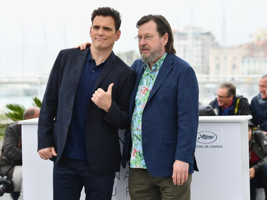 Hollywood descended on the South of France for the 71st annual Cannes Film Festival. Actor Matt Dillon, left, gives a thumbs up toward his 'House That Jack Built' director Lars von Trier at the film's photocall on May 14.