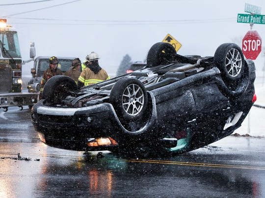 Two vehicles collided at the intersection of Kohler and Grand Point roads, Chambersburg at  around 6p.m. Monday, March 12, 2018. 