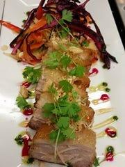 Crispy pork belly is a new menu item at The Ohana Grill