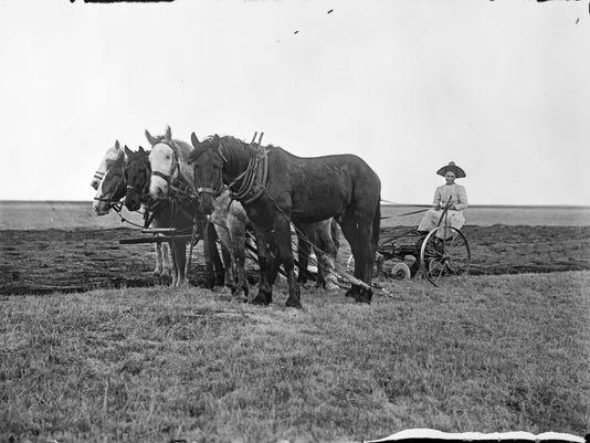 Female homesteader