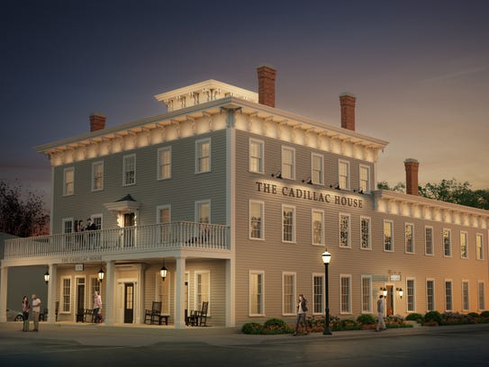 Rendering of what the Cadillac House renovation could