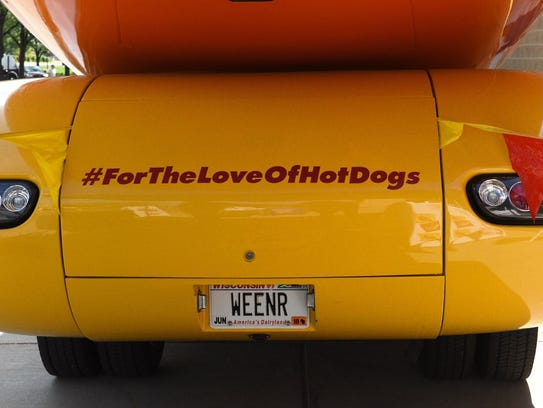 The Weinermobile called Weenr will be in Sioux Falls