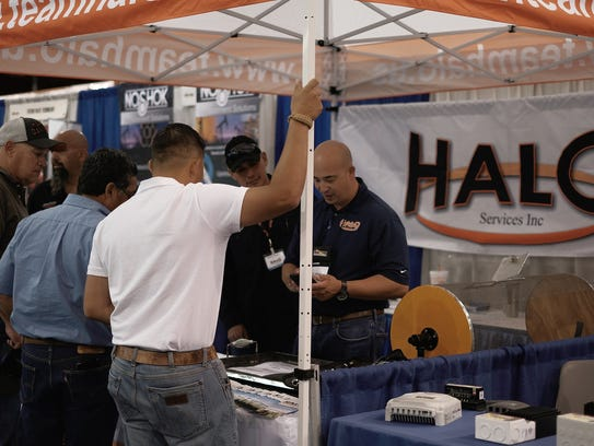 The Halo Services booth was among those that attracted