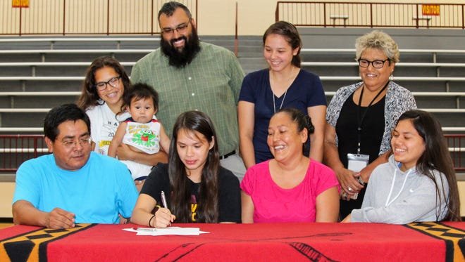 Cherokee graduate LeLe Lossiah has signed to play college basketball for Warren Wilson.