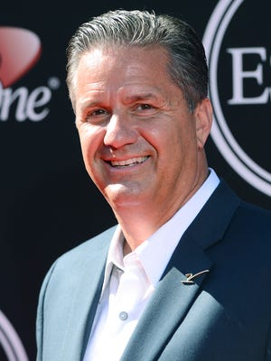 Kentucky Wildcats' coach John Calipari  July 16, 2014, in Los Angeles. (Photo by Jordan Strauss/Invision/AP)