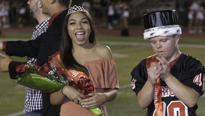Ambar Coto and Patrick Petro were crowned homecoming queen and king at Woodbridge High School on Friday night.