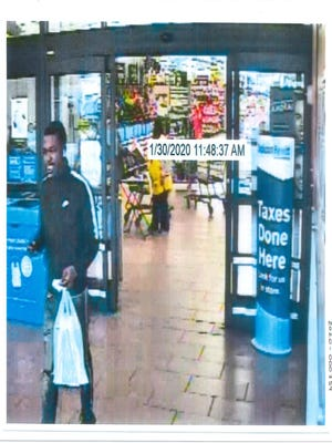 Screen capture depicting the suspect in a Jan. 30 credit card fraud incident.