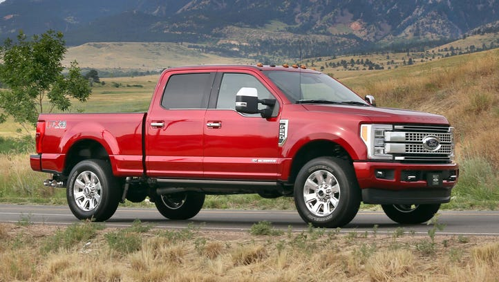 Like the F-150, Ford's F-250 Super Duty has an all-aluminum
