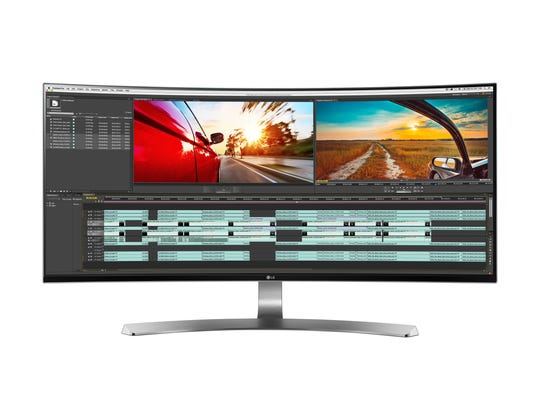 LG's 34-inch UltraWide Curved LED Monitor.