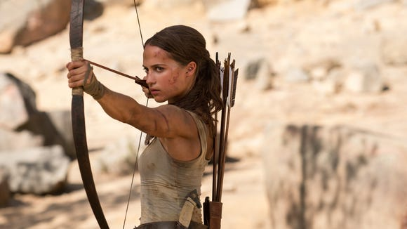 "Alicia Vikander takes a new kind of aim in ""Tomb Raider."""