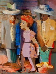 "Norman Lewis'  ""Hep Cats' is a 1943 oil on canvas work."