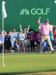 In January, Jason Dufner made an impossible chip to help save par to win the CareerBuilder Challenge, January 24, 2016.