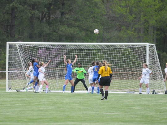 This corner kick resulted in Caesar Rodney's third goal. After the ball fell, a deflection put the ball in the net as an own goal.