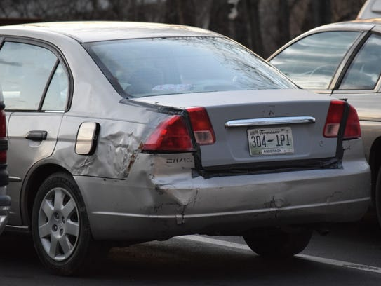 Pictured is the Honda Civic that authorities believe