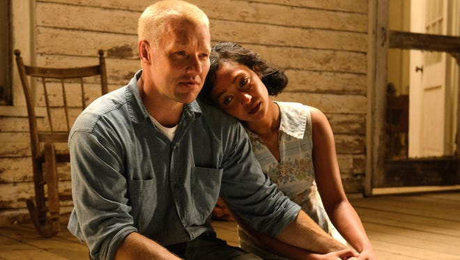 "Joel Edgerton, left, stars as Richard and Ruth Negga stars as Mildred in Jeff Nichols ""Loving,"" a Focus Features release."