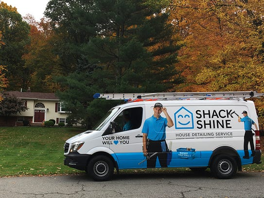 The Shack Shine van outside a Warren home.