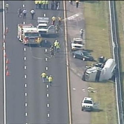 A tanker rollover closed the SB lanes of Interstate 75 on Wednesday afternoon.