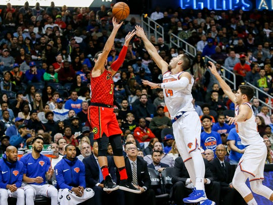 Atlanta Hawks guard Marco Belinelli (3) shoots over