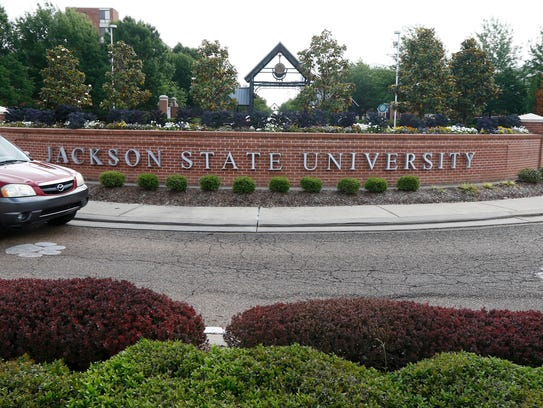 A vehicle comes on to the Jackson State University