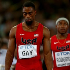 BEIJING, CHINA - AUGUST 29:  Tyson Gay of the United