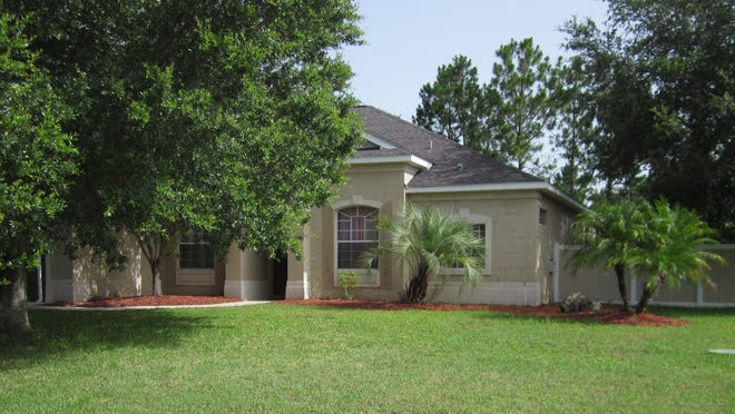 The trees around this Palm Coast home may help the homeowner save on energy costs and improve the value of the property.