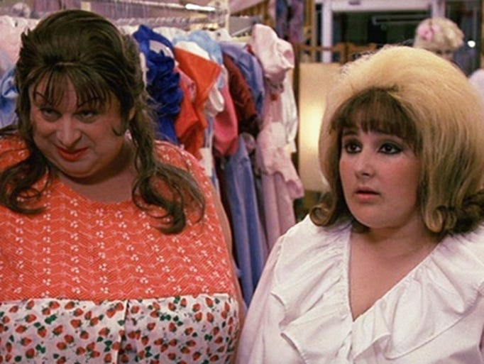 Edna Turnblad (Divine, left) has lots of love and support