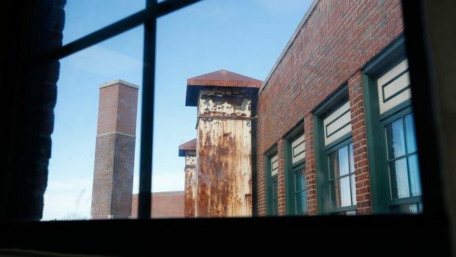 A ventillation shaft at Thornton High School in Mount Vernon.