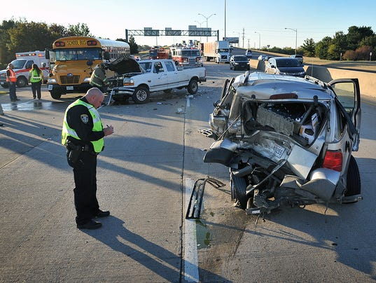 Central Freeway Wreck 1