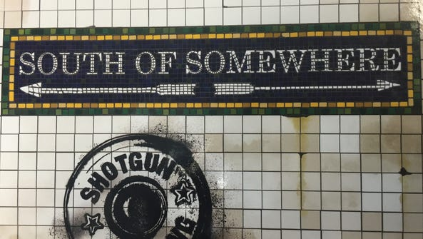 """The CD cover for """"South of Somewhere"""" by Shotgun Wedding."""